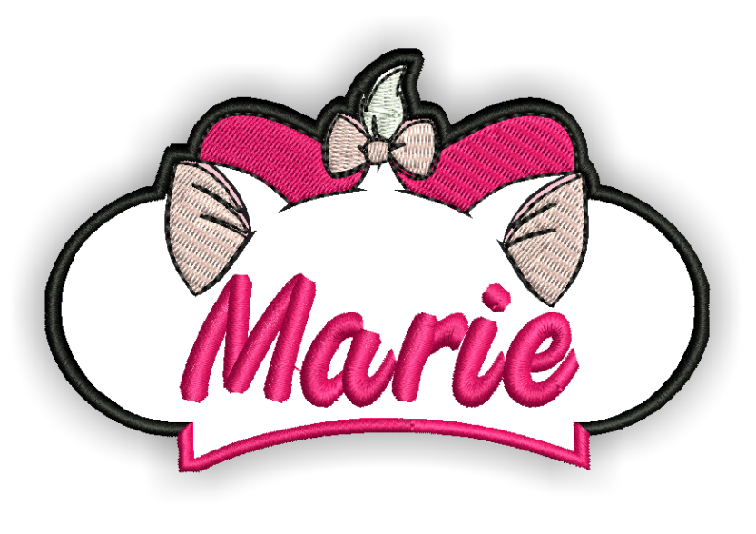 Image of Marie Custom Iron-on Patch With Name