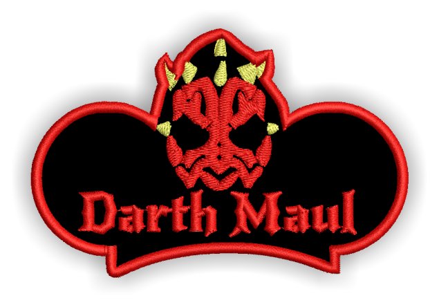 Image of Darth M Custom Iron-on Patch With Name