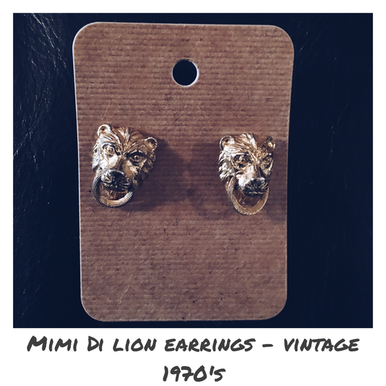 Image of Mimi Di Lion Door Knocker Earrings