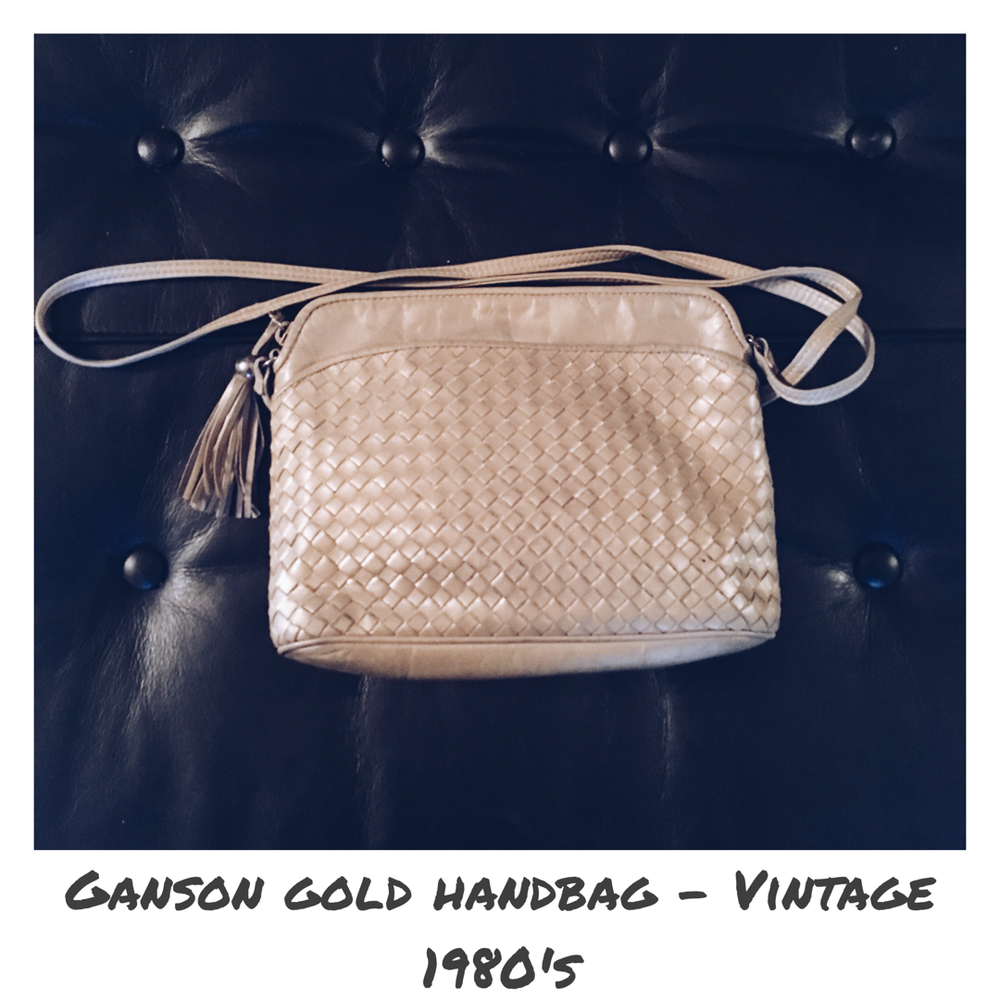 Image of Vintage Ganson Gold Quilted Handbag