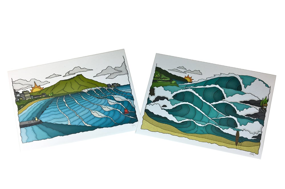 Image of South Shore Summer x Waimea Bay Winter Print Package.