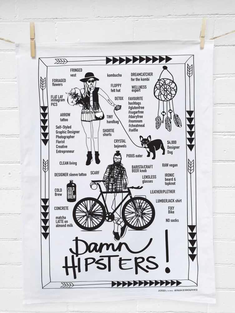 Image of HIPSTER Tea Towel