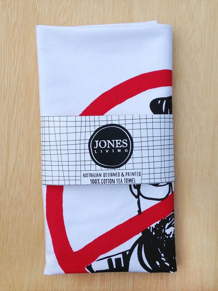 Image of PIOUS EATING Tea Towel