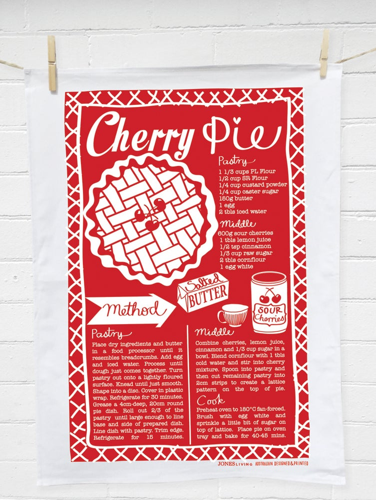 Image of CHERRY PIE Tea Towel