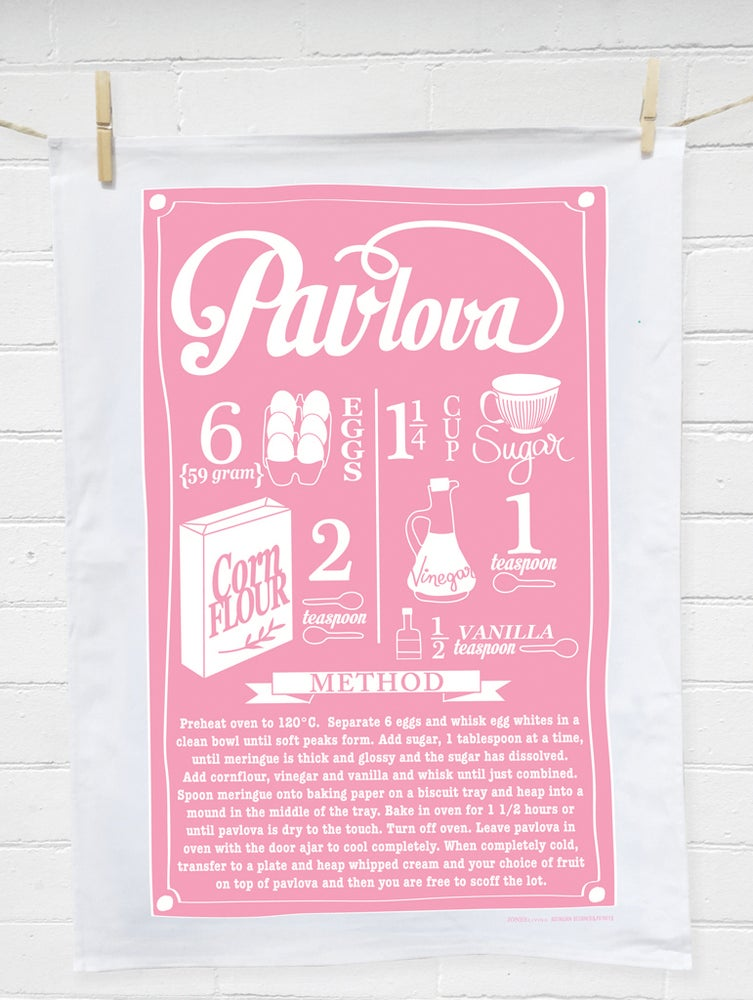 Image of PAVLOVA Tea Towel