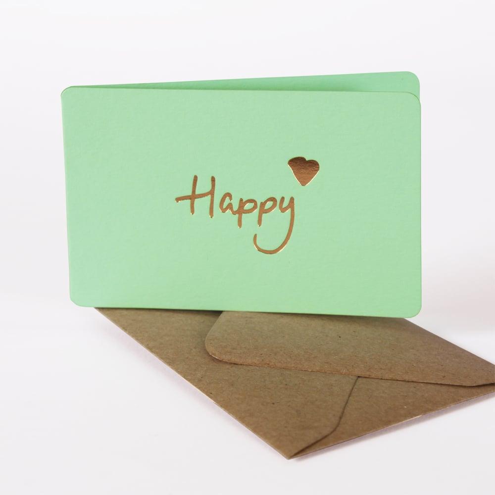 Image of MINI-CARTE HAPPY vert
