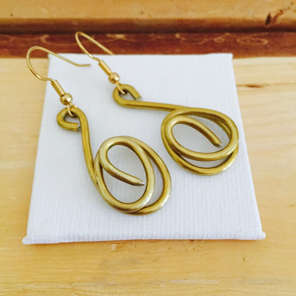 Image of Gold Scroll Earrings