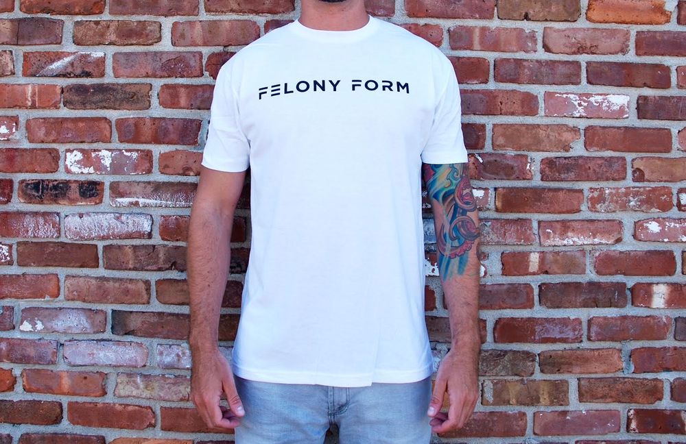 Image of Felony Form T-shirt in White