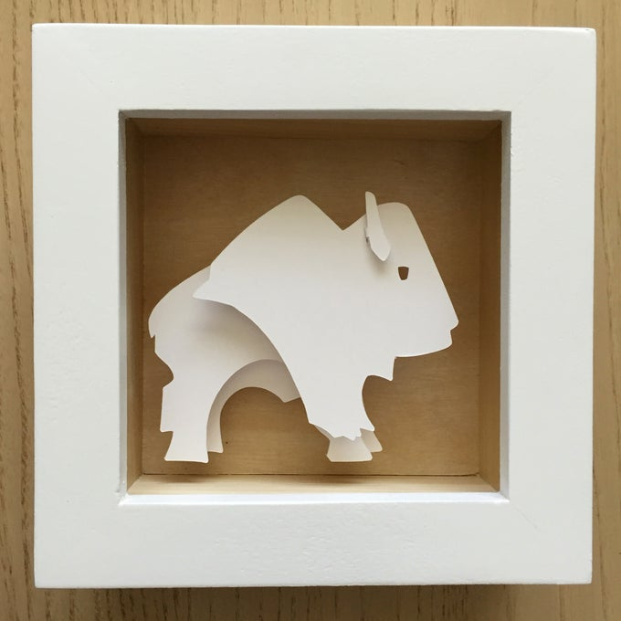 Image of White Bison Paper Sculpture