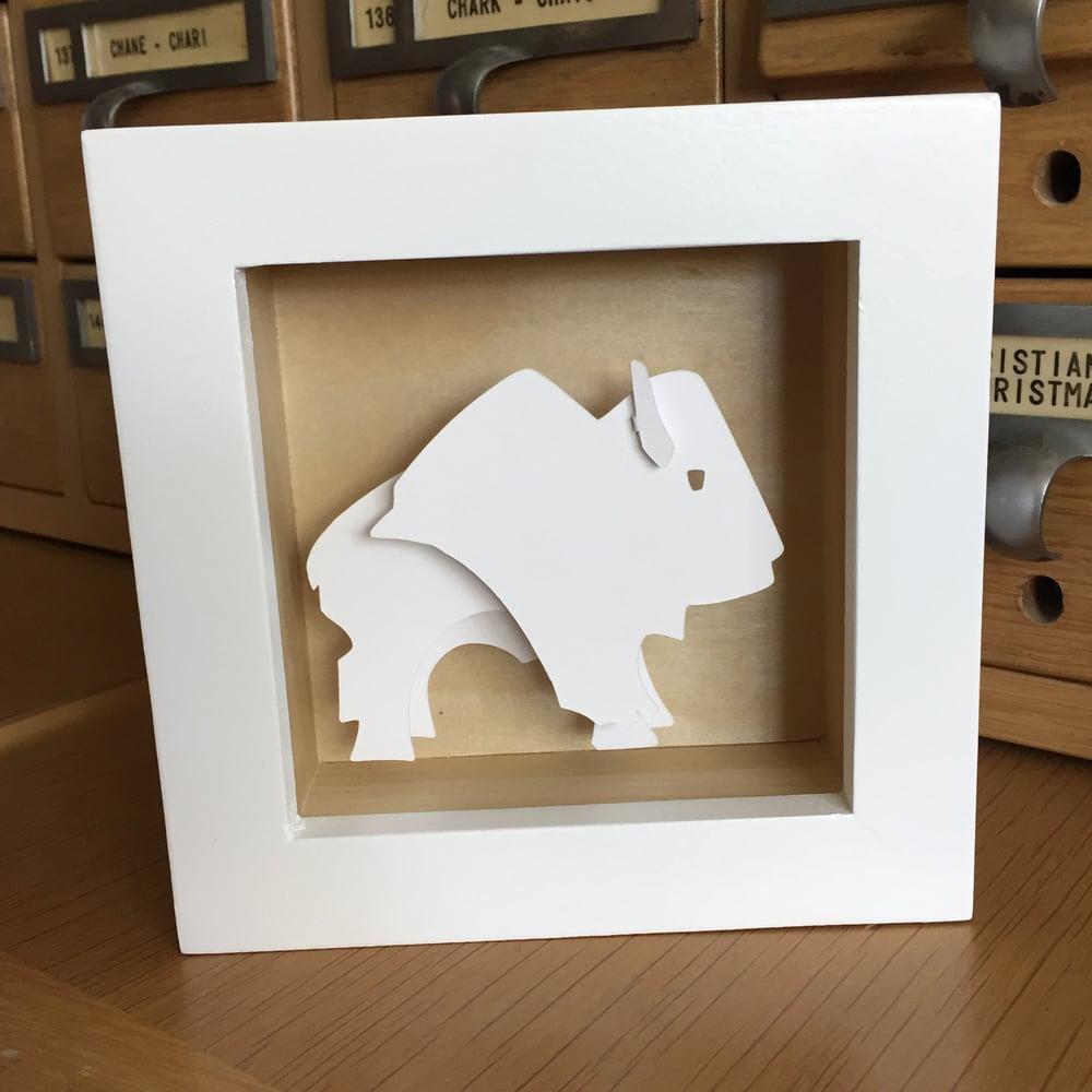 White Bison Paper Sculpture