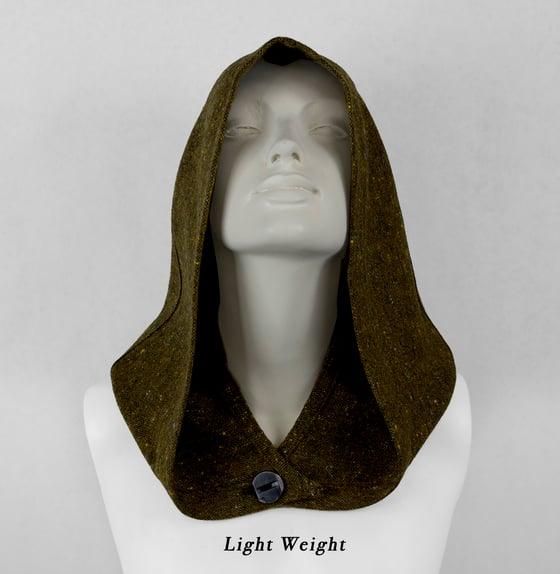 Image of Speckled Olive Wool Hood