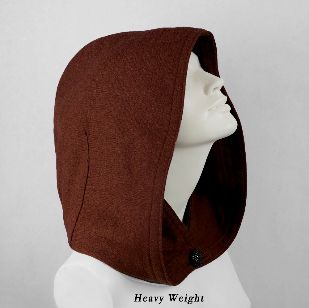 Image of Brick Red Wool Hood