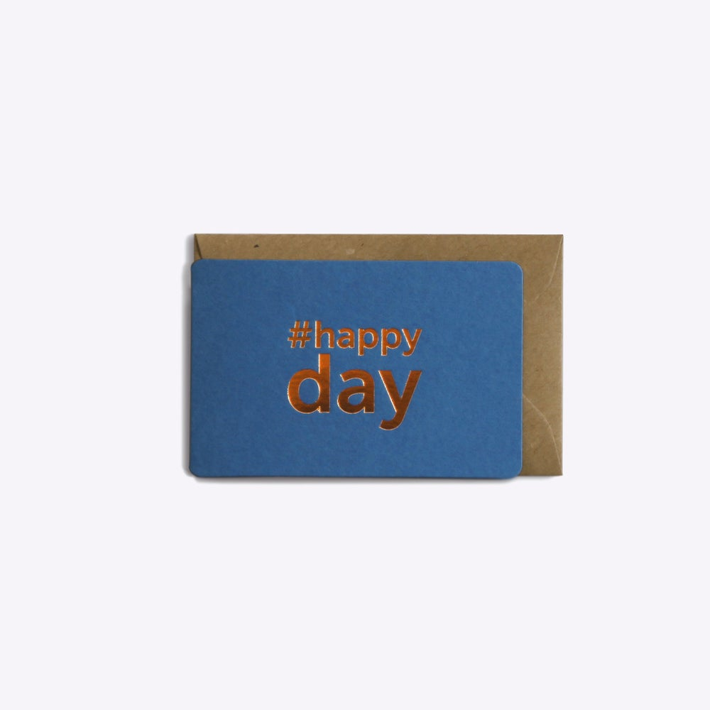 Image of MINI-CARTE HAPPY DAY bleu