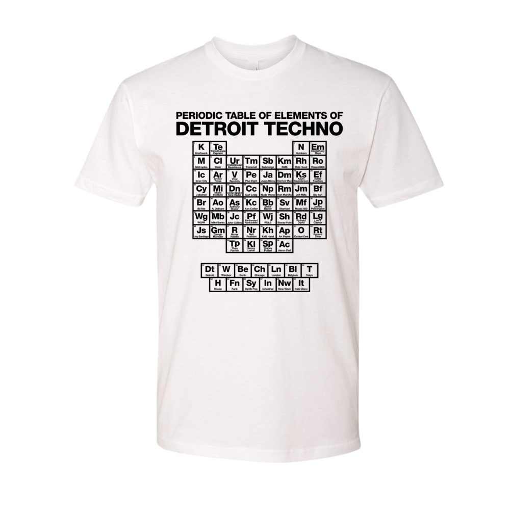 Periodic Table Of Elements Of Detroit Techno White Detroit Makes