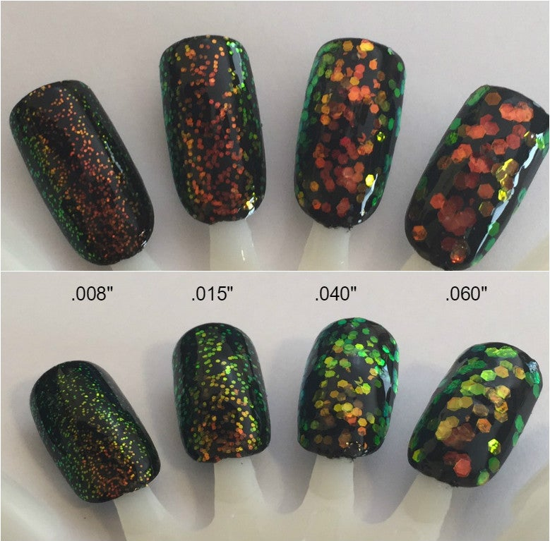 Image of Iridescent Chameleon Hex (Red/Gold/Green) Glitter<p> 4 sizes