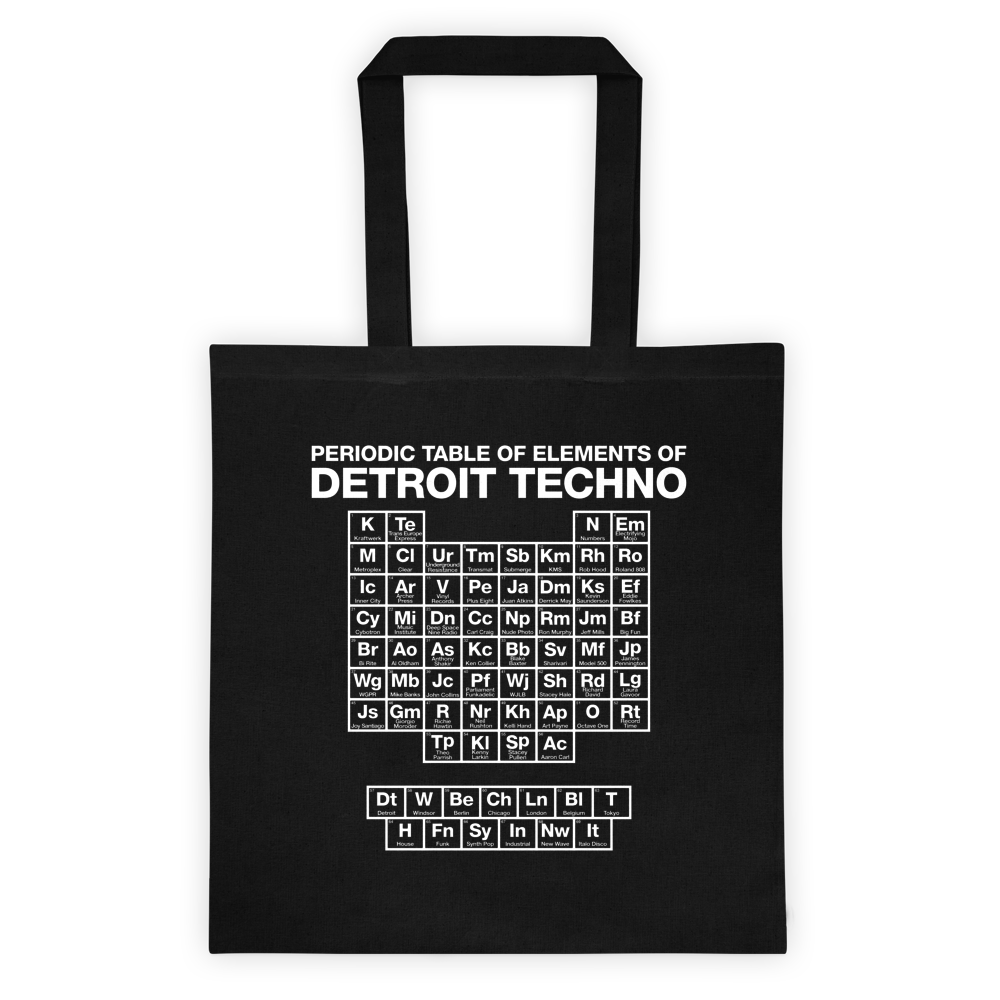 Image of Periodic Table of Element Black Tote