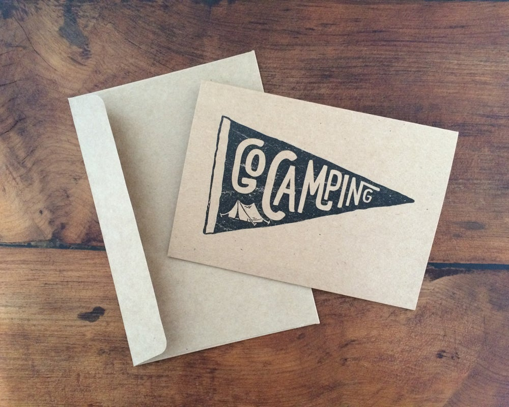 Image of A6 kraft greeting card