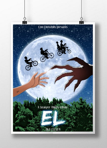 Image of Stranger Things/E.T. limited print