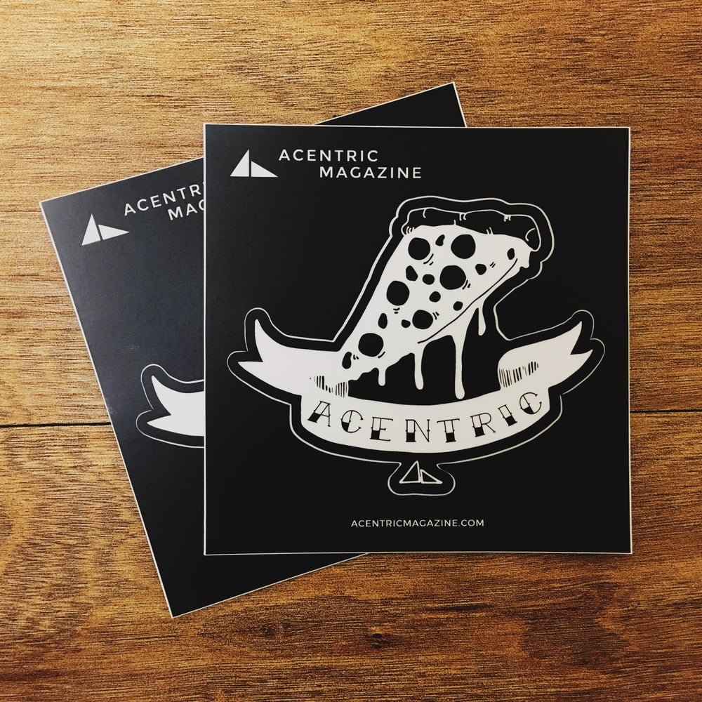 Image of Acentric Magazine | Kiss Cut Sticker
