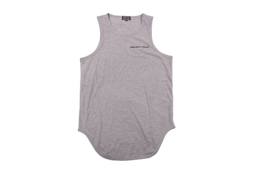 Image of RWLS Euro Curve Tank Top Grey