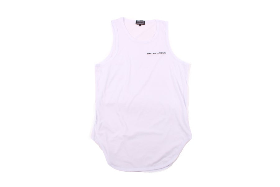 Image of RWLS Euro Curve Tank Top White