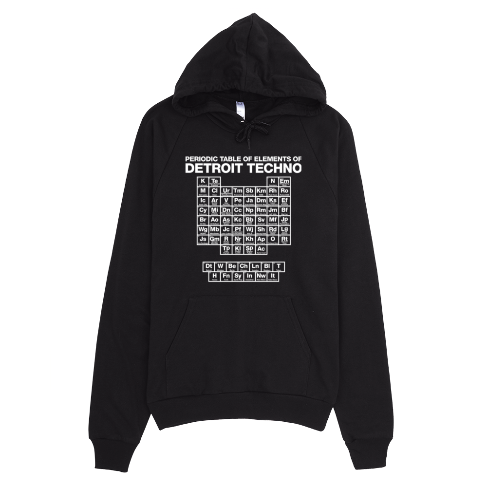 Periodic table of techno elements hoodie black detroit makes image of periodic table of techno elements hoodie black urtaz Image collections
