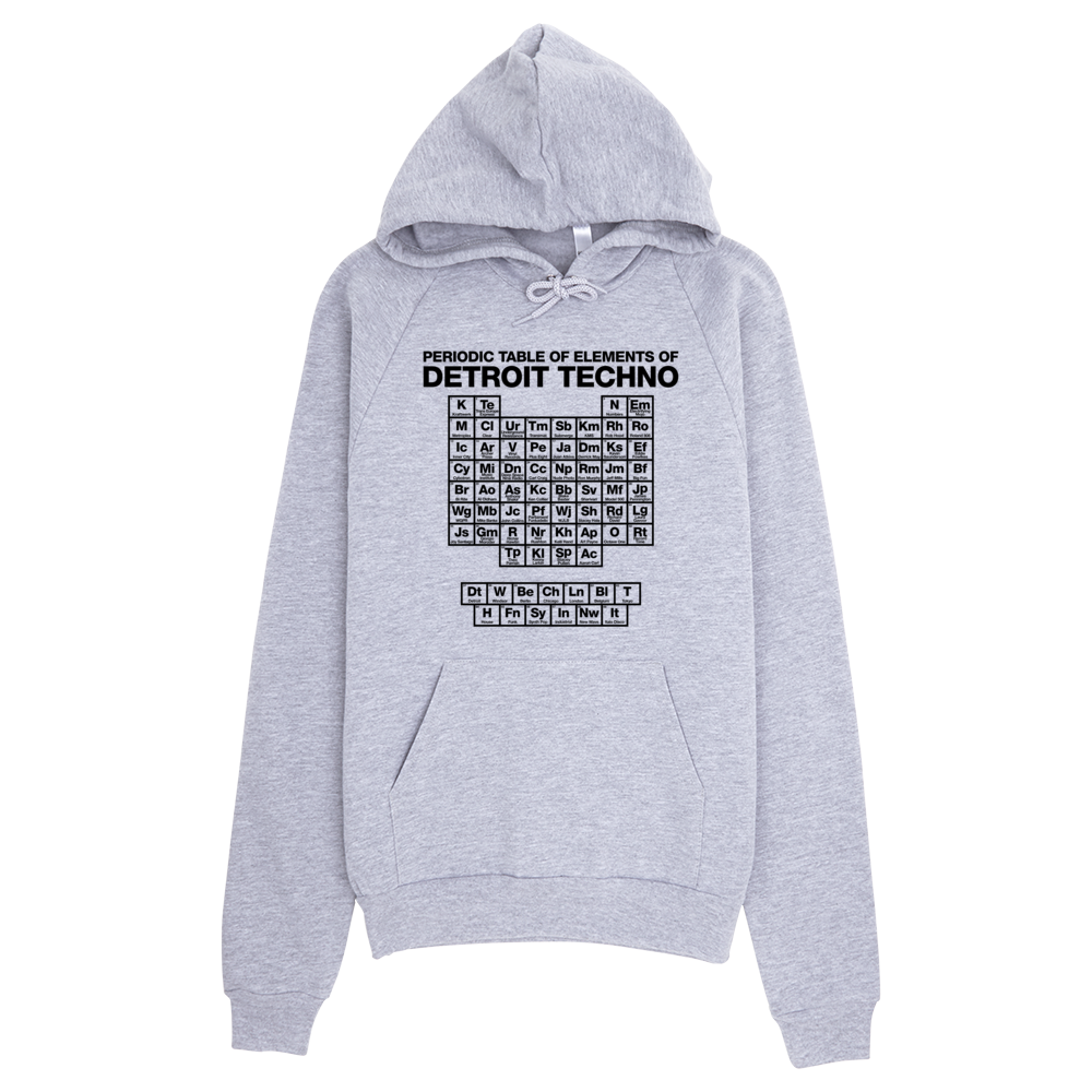 Periodic table of detroit techno elements hoodie grey detroit makes image of periodic table of detroit techno elements hoodie grey urtaz Image collections