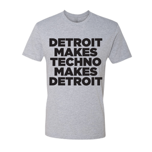 Image of Detroit Makes Techno short sleeve - grey