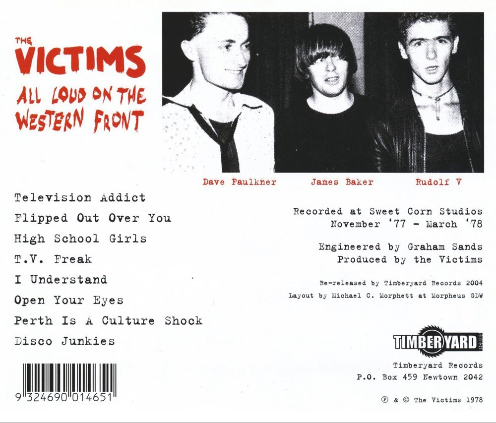 THE VICTIMS ~ All Loud On The Western Front CD