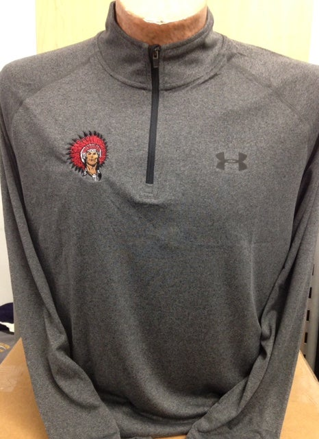 Image of Under Armour Long Sleeve 1/4 zip grey