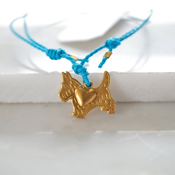 Image of Scottie dog and heart friendship bracelet