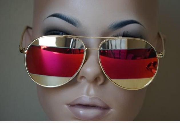 Image of Designer Inspired Dior Split Sunglasses
