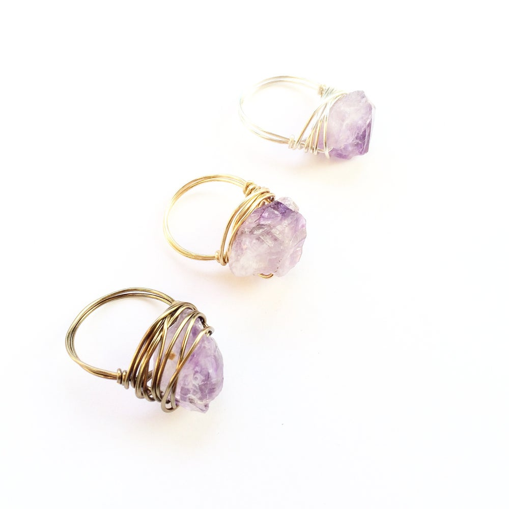 Image of Lorde Ring - Amethyst Crystal