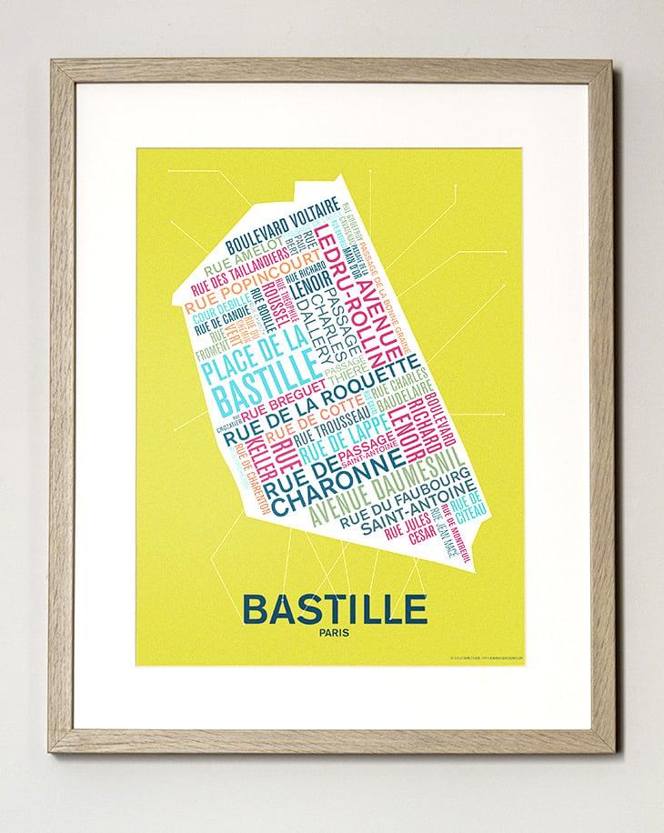 Image of FIN DE SÉRIE // Affiche Bastille - Paris