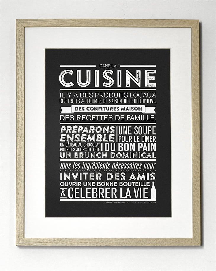 Image of Affiche Dans la cuisine 30x40