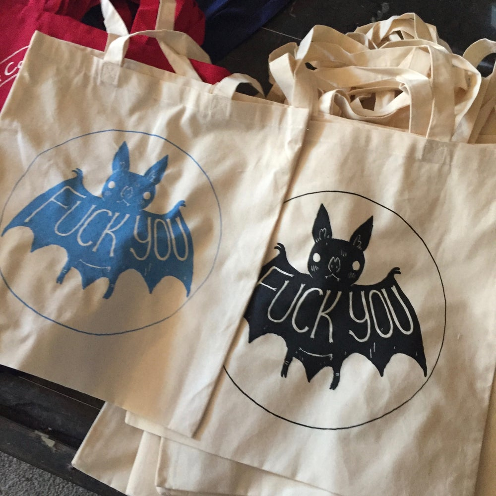 Image of Small Fuck You Tote Bags