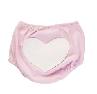 Image of Sapling Organic Heart Bloomers 3-6months