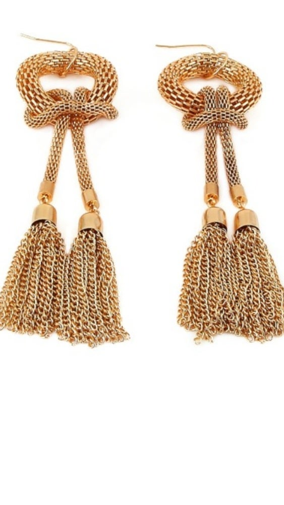 Image of Knotted Tassel Earrings