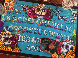 Image of Day of the Dead Lenormand miniature deck + Spirit Board Cloth