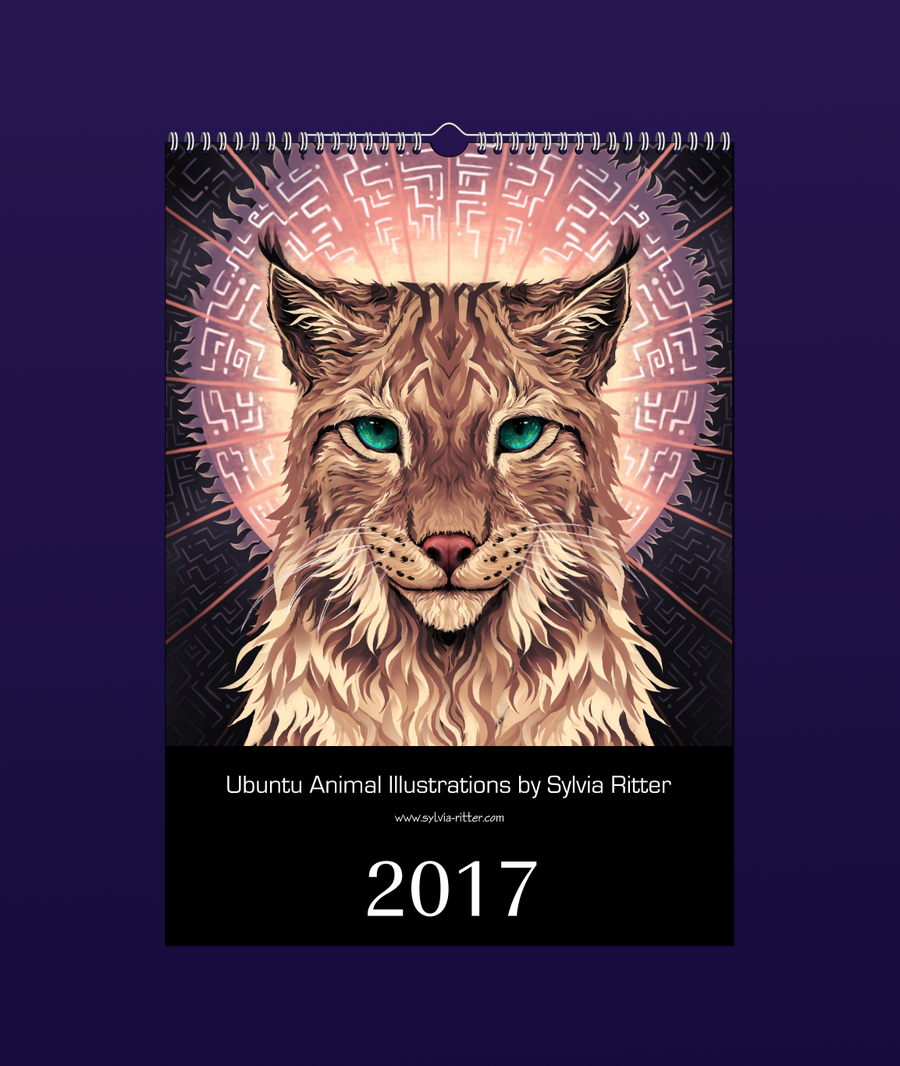 Image of Ubuntu Animal Illustrations Calendar 2017