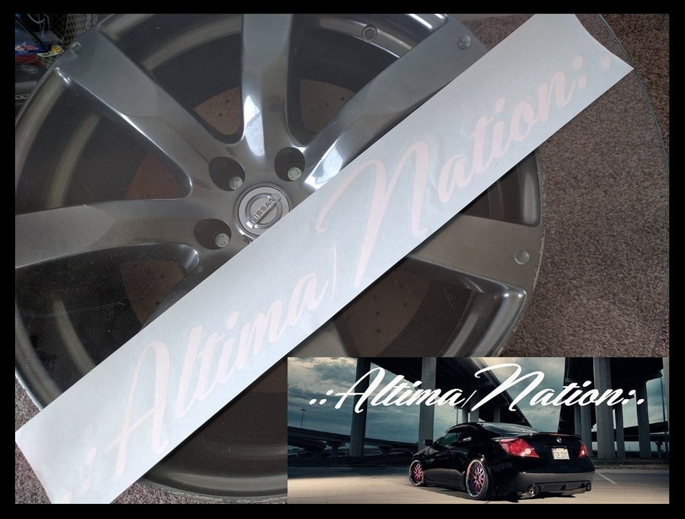 "Image of Altima Nation logo Full Size Banner (24.6"" x 3.75"")"