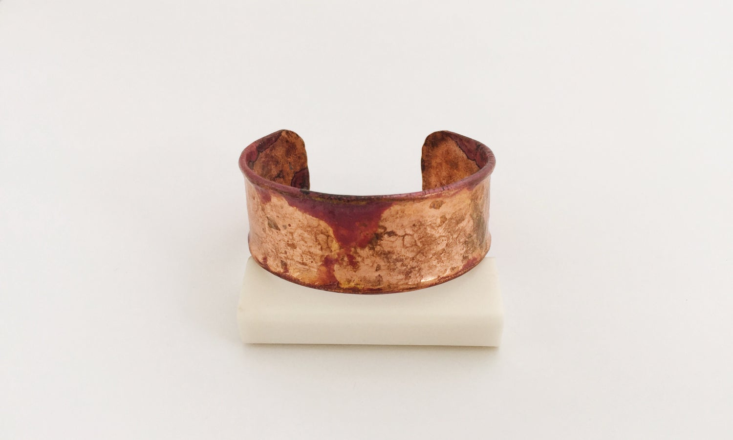 Image of Handcrafted Copper Bracelet Cuff - Weathered