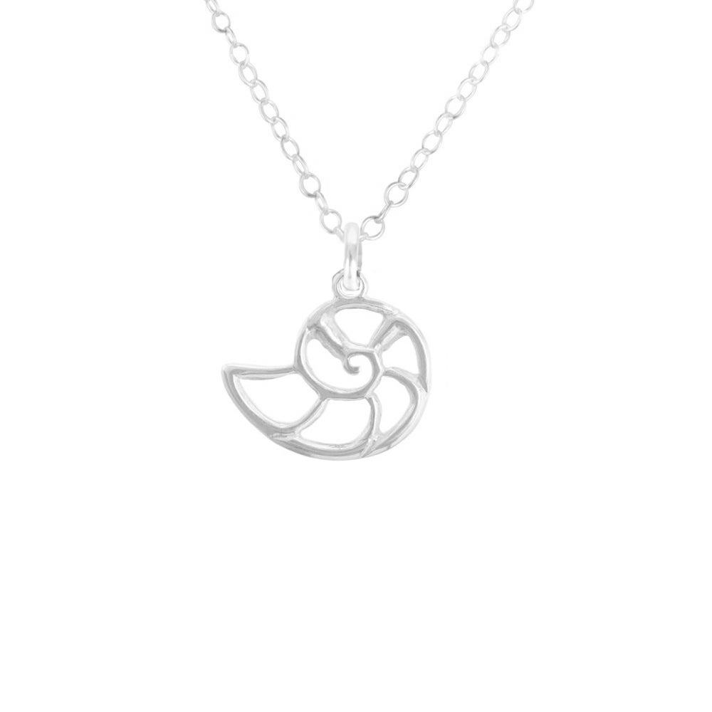 Image of Nautilus Shell Necklace in Sterling Silver