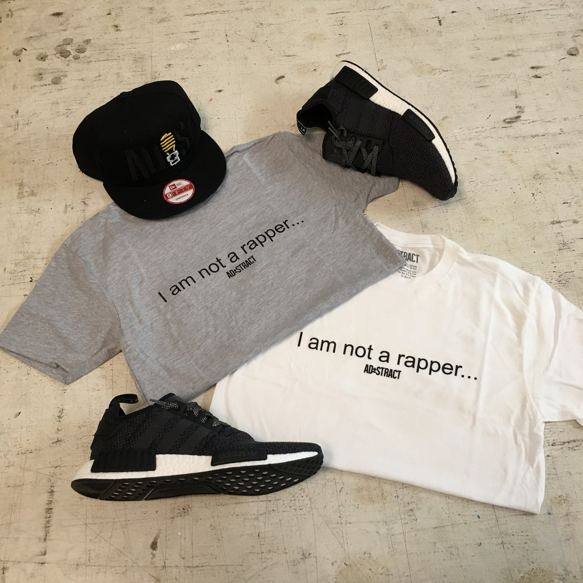 "Image of I AM NOT A RAPPER ""BLACK, GREY OR WHITE"" T-SHIRT"