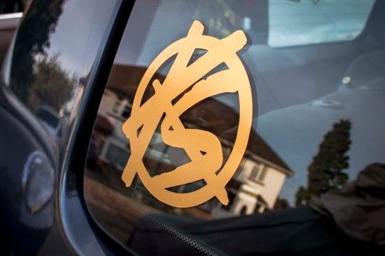 "Image of 4"" Round Emblem Sticker"