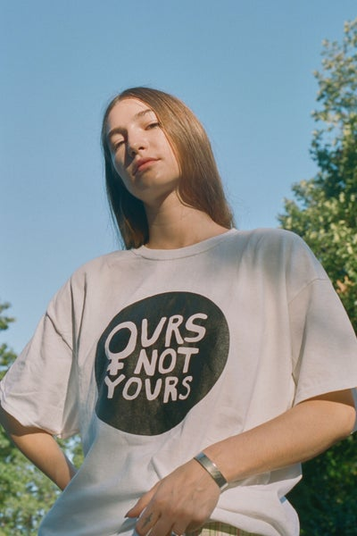 Image of OURS NOT YOURS UNISEX TEE