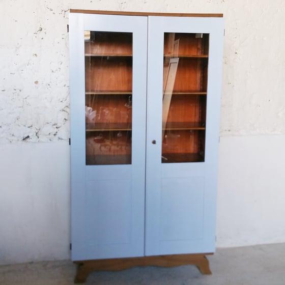Image of Armoire bibliothéque vintage