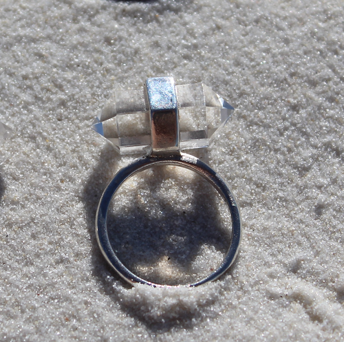 Image of Balance ring - Clear Quartz