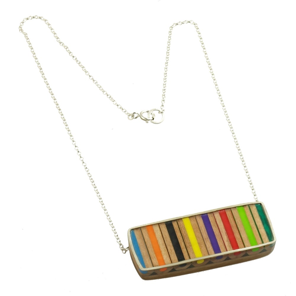 Image of Stripe Necklace inspired by 'Op Art'