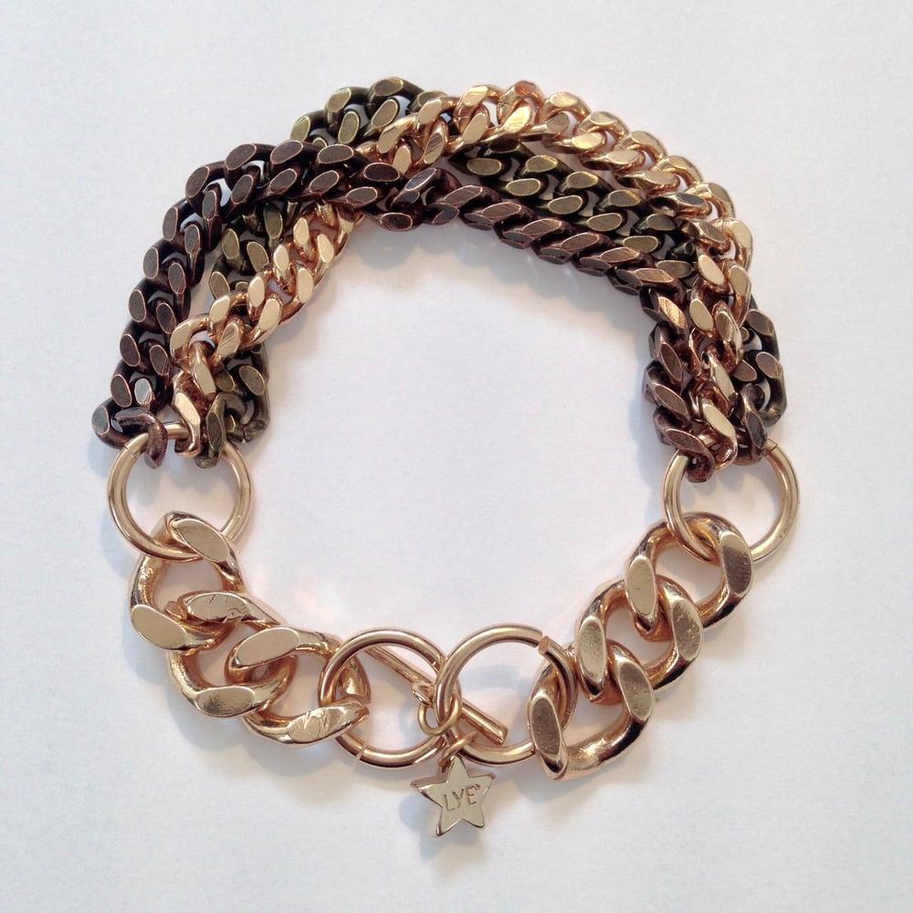 Image of Gourmette dégradé 3 couleurs Sweet Chain / Gradient Bracelet 3 colors Sweet Chain